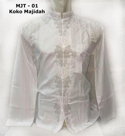 baju koko putih lengan panjang merk majidah berkualitas