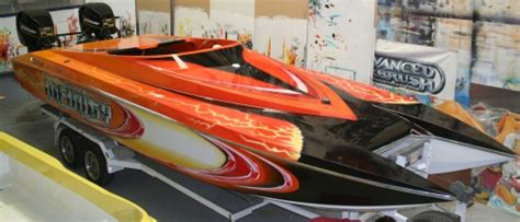 Boat Names With Red by Aerograf 237 A Airbrush Custom Paint
