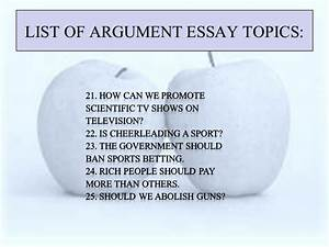 short argumentative essay topics
