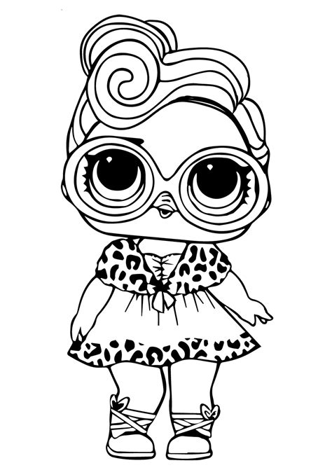 printable lol doll coloring pictures dollface