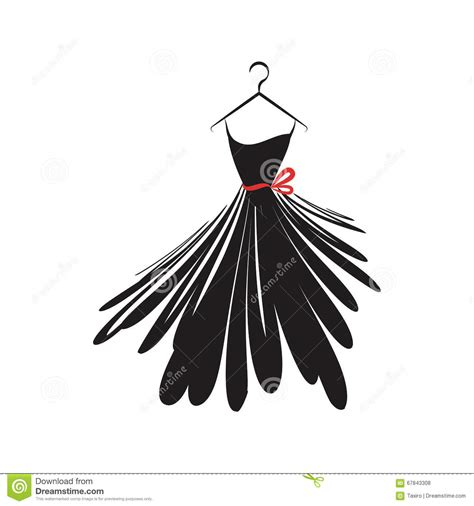 black dress stock vector image