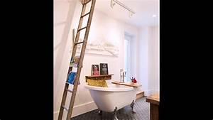 Alte Leiter Deko : gerettete holzregal alte leiter und vintage badewanne mode ein opulent und distinct badezimmer ~ Watch28wear.com Haus und Dekorationen
