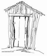 Clipart Hillbilly Outhouse Rustic Shed Sheds Country Pages Shack Primitive Drawing Sketch Drawn Coloring Drawings Shacks Weatherbeaten Really Hand Clip sketch template