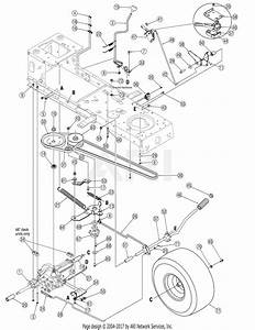 Troy Bilt 13an77tg711 Pony  2007  Parts Diagram For Drive