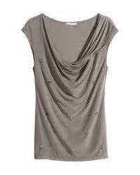 h m draped top in gray mole lyst