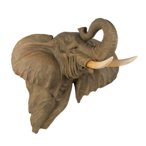 elephant home decor elephant bust wall mount large home decor collection