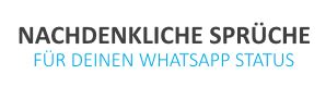 whatsapp status spr 252 che zum nachdenken