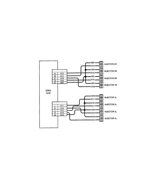figure 2 4 ddec ii injector harness wiring schematic