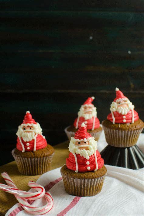 santa claus cupcakes santa claus frosting decoration