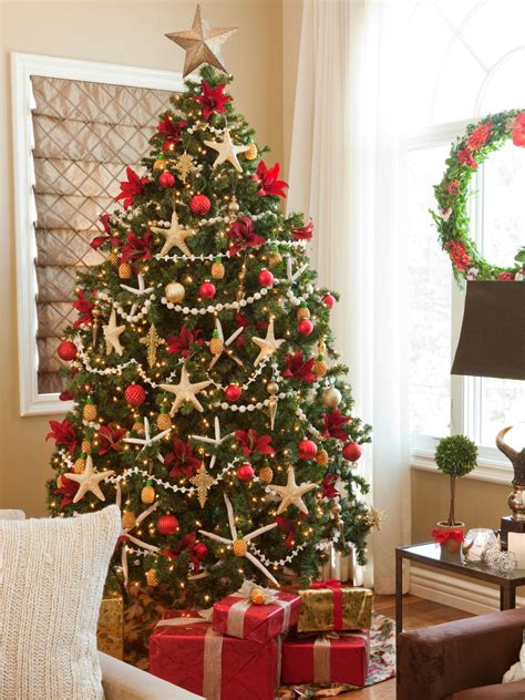 christmas tree color schemes christmas tree themes interior design styles and color schemes for home decorating hgtv