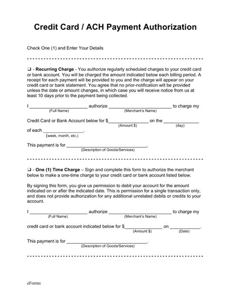 ach authorization form template ach authorization form template best template idea