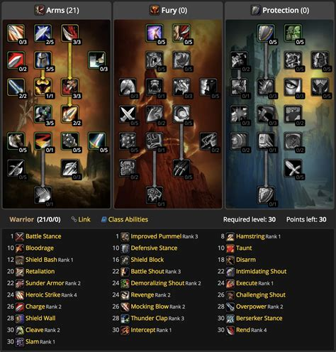 classic talent calculator ranks wow trainable ability highest displays