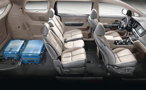 kia sedona cargo room  seating options