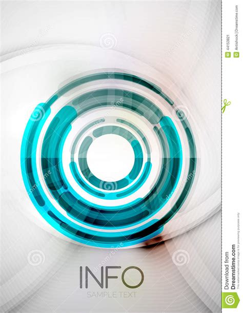 futuristic rings and circles design template stock vector