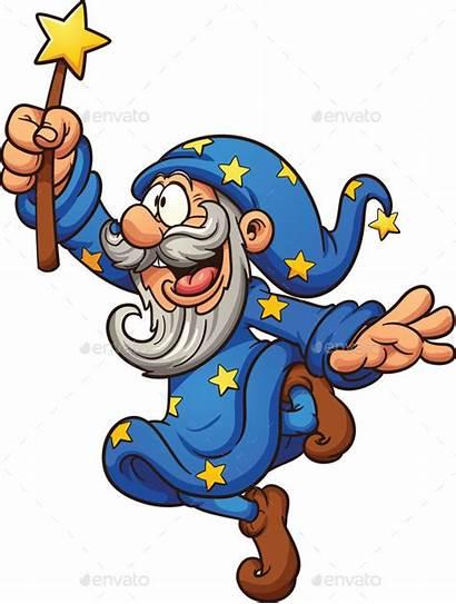 Wizard Cartoon Clip Clipart Mago Magic Characters