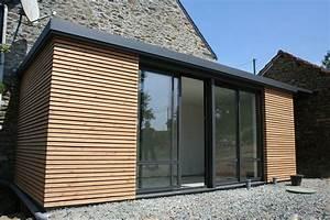 extension bois toit plat myqtocom With extension garage bois toit plat