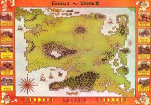 ultima iii map  sosaria  codex  ultima wisdom