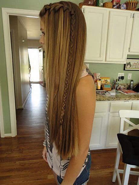 frisur lange krause haare