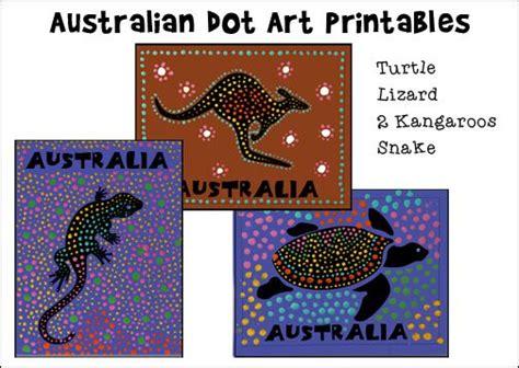 australian dot printables for australia day or australian homeschool unit study education