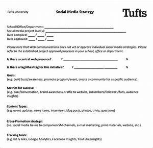 Social Media Strategy Template Pdf  U2013 Task List Templates