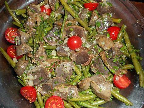 cuisiner haricots beurre recette de salade d haricots verts aux gésiers de canards