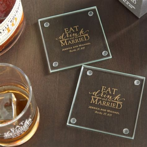 personalized glass coaster favors beau coup