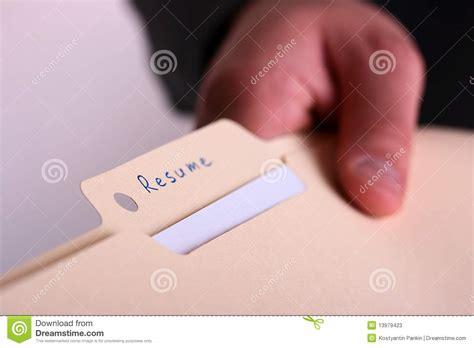 folder resume stock image image of manager report