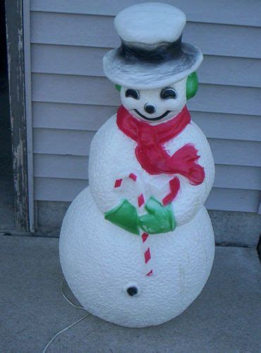vintage large lighted blow snowman 40 quot union snowman mold yard decoration light vintage ebay