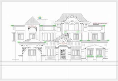 2d Elevation Plan Luxury Houses Plans Floor