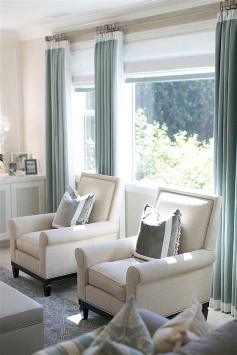 ivory chairs and blue velvet curtains a interior design