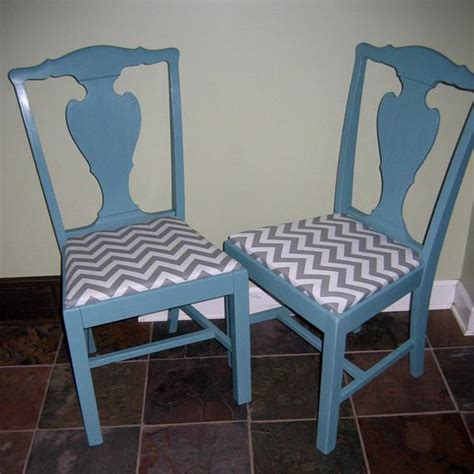 pair  vintage kitchen  dining chairs painted teal