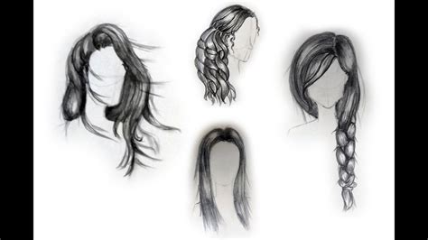 draw female hairstyles  beginners youtube