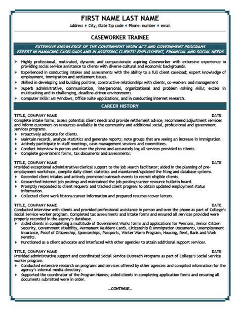 caseworker trainee resume template premium resume