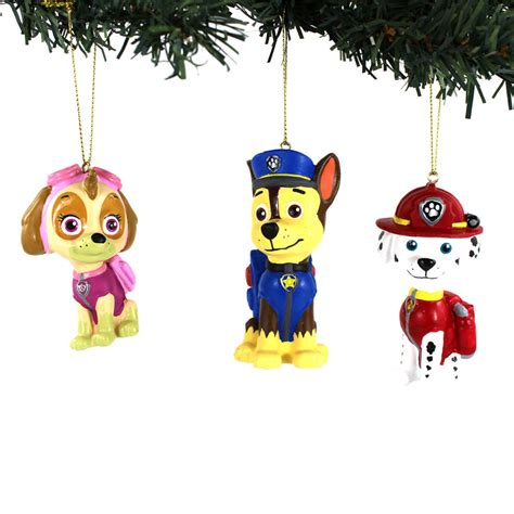 paw patrol kurt adler blow mold ornaments marshall chase