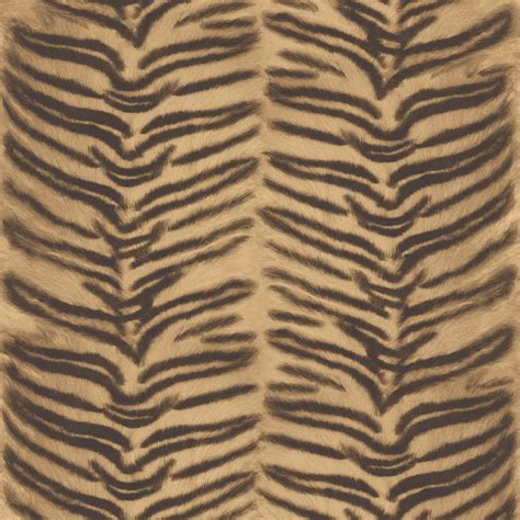 Textured Animal Print Wallpaper - muriva tiger pattern faux effect animal fur vinyl