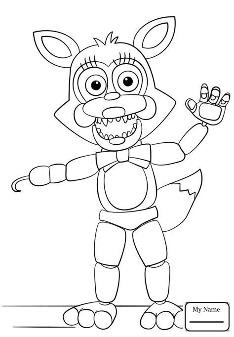 Coloring Fnaf by Fnaf Coloring Pages Foxy Free Coloring For 2019