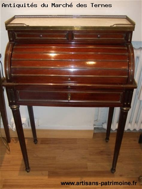 bureau cylindre de style louis xvi artisans du patrimoine