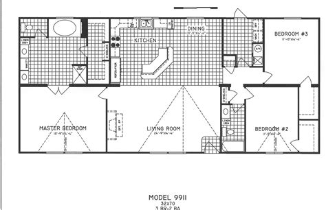 floor plans 3 bedroom floor plan c 9911 hawks homes manufactured