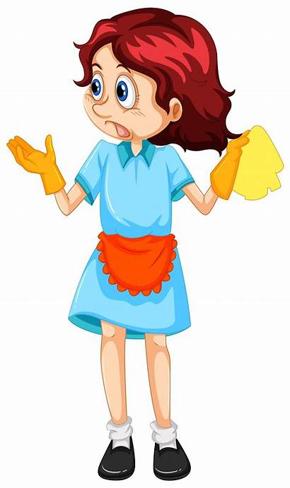Cleaning Maid Woman Vector Service Clipart Vectors
