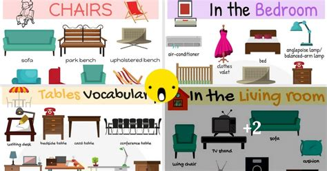 Living Room Vocabulary With Pictures by Types Of Furniture Useful Furniture Names With Pictures