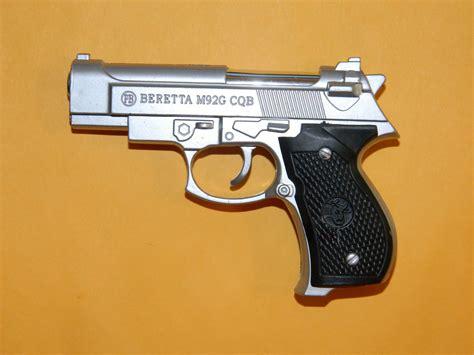 Silver Beretta M92G Pistol Gun Revolver Shaped Jet Torch