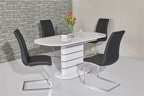 white kitchen table with 4 chairs small oval white high gloss dining table 4 chairs