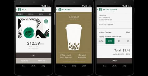 starbucks app for android starbucks for android updates shake to pay and tipping