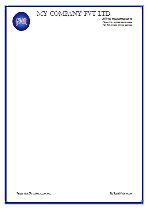 free personal letterhead free letterhead sample templates download and use
