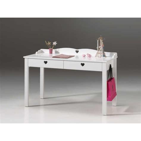bureau blanc enfant bureau pour chambre enfants fille avec 2 tiroirs en