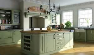 High Gloss Storage Cabinets by Shaker Kitchen In Garden Green Finish