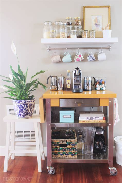 Cafe Kitchen Decorating Ideas - townhouse update new coffee cart the inspired room home ideas