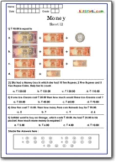 math money worksheets practice  math olympiad class