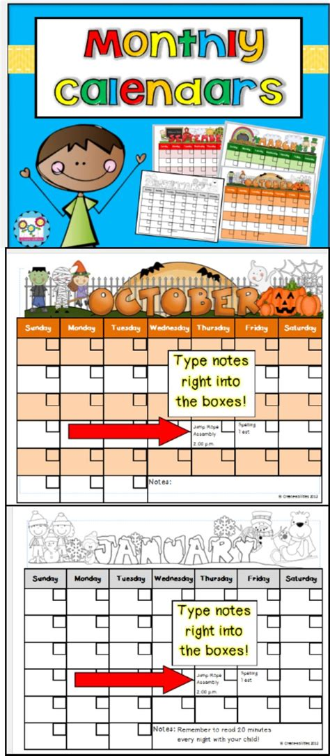 monthly calendars ideas pinterest monthly