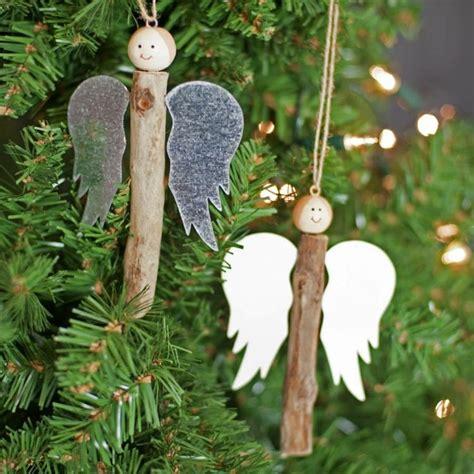 basteln sie niediche engel mit rustikalem stil aus st 246 cken